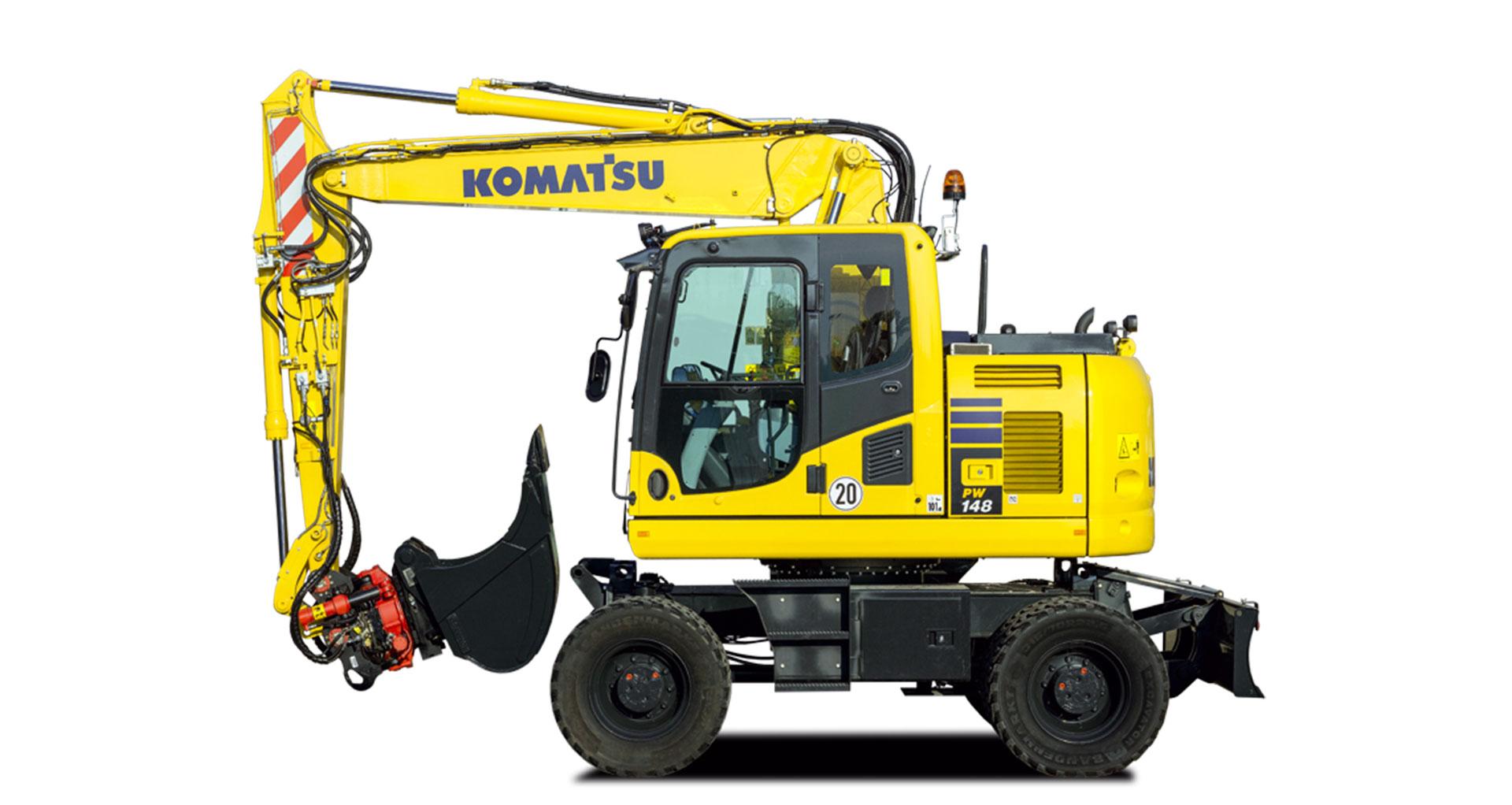 Escavatore gommato Komatsu PW148-10