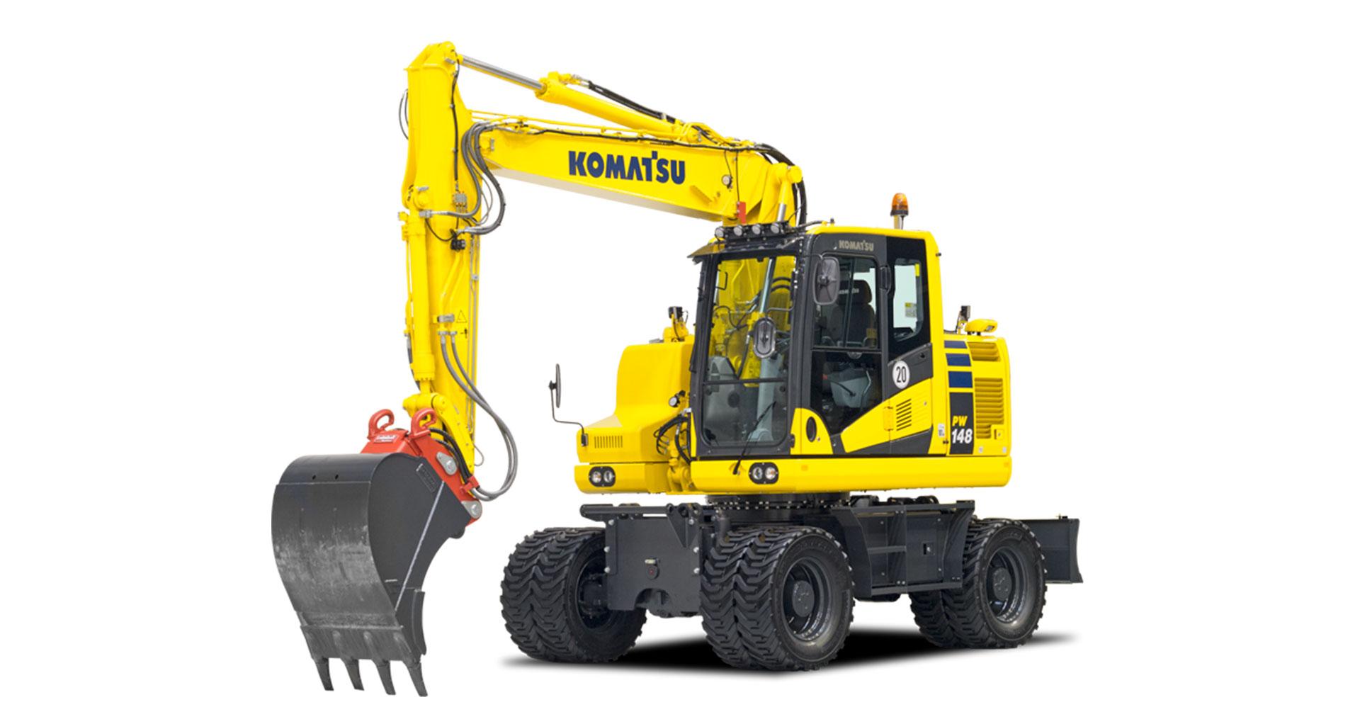 Escavatore gommato Komatsu PW148-11
