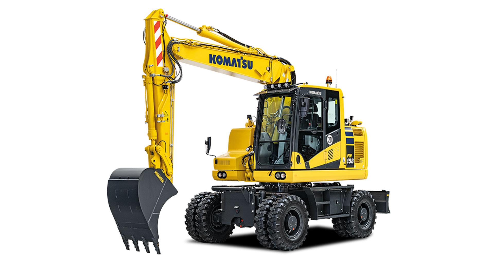 Escavatore gommato Komatsu PW158-11