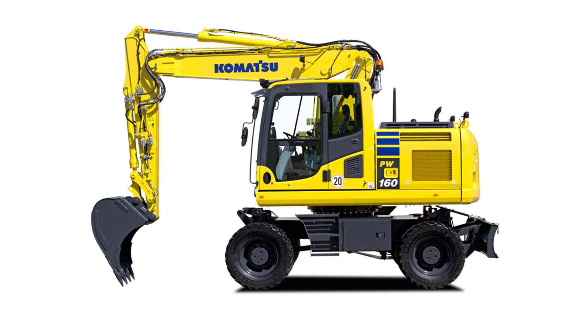 Escavatore gommato Komatsu PW160-10