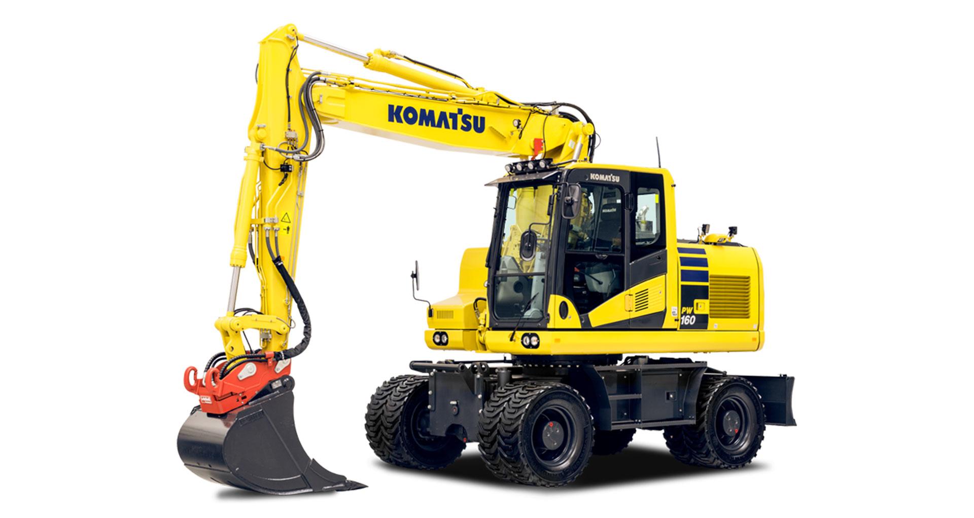 Escavatore gommato Komatsu PW160-11