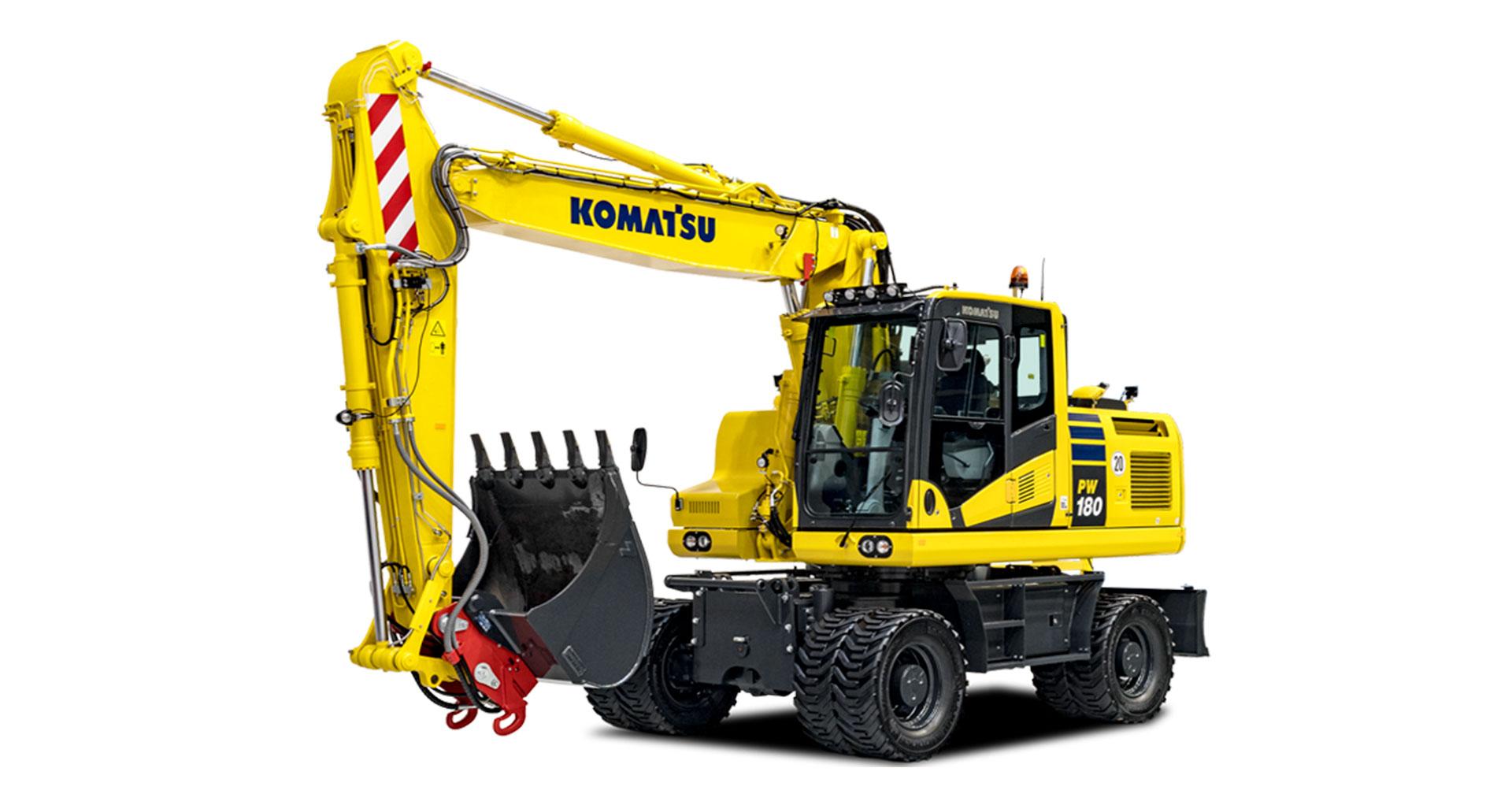 Escavatore gommato Komatsu PW180-11