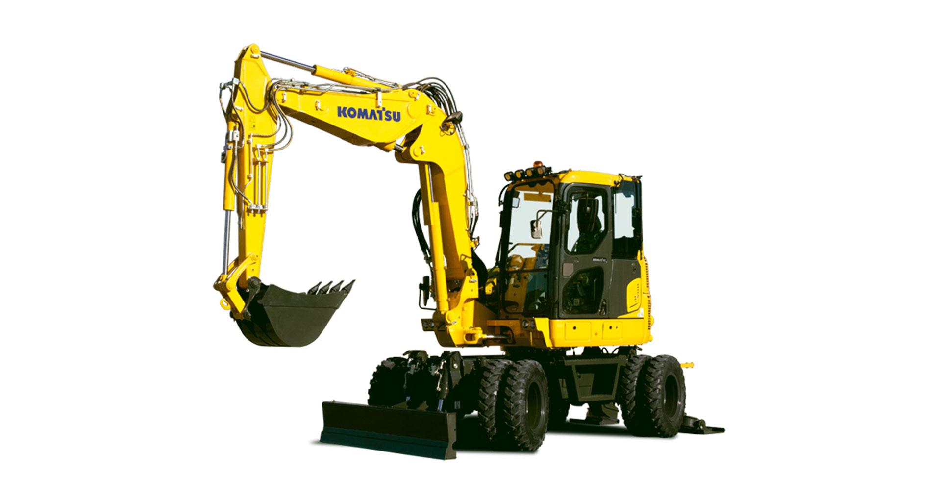 Escavatore gommato compatto Komatsu PW98MR-10