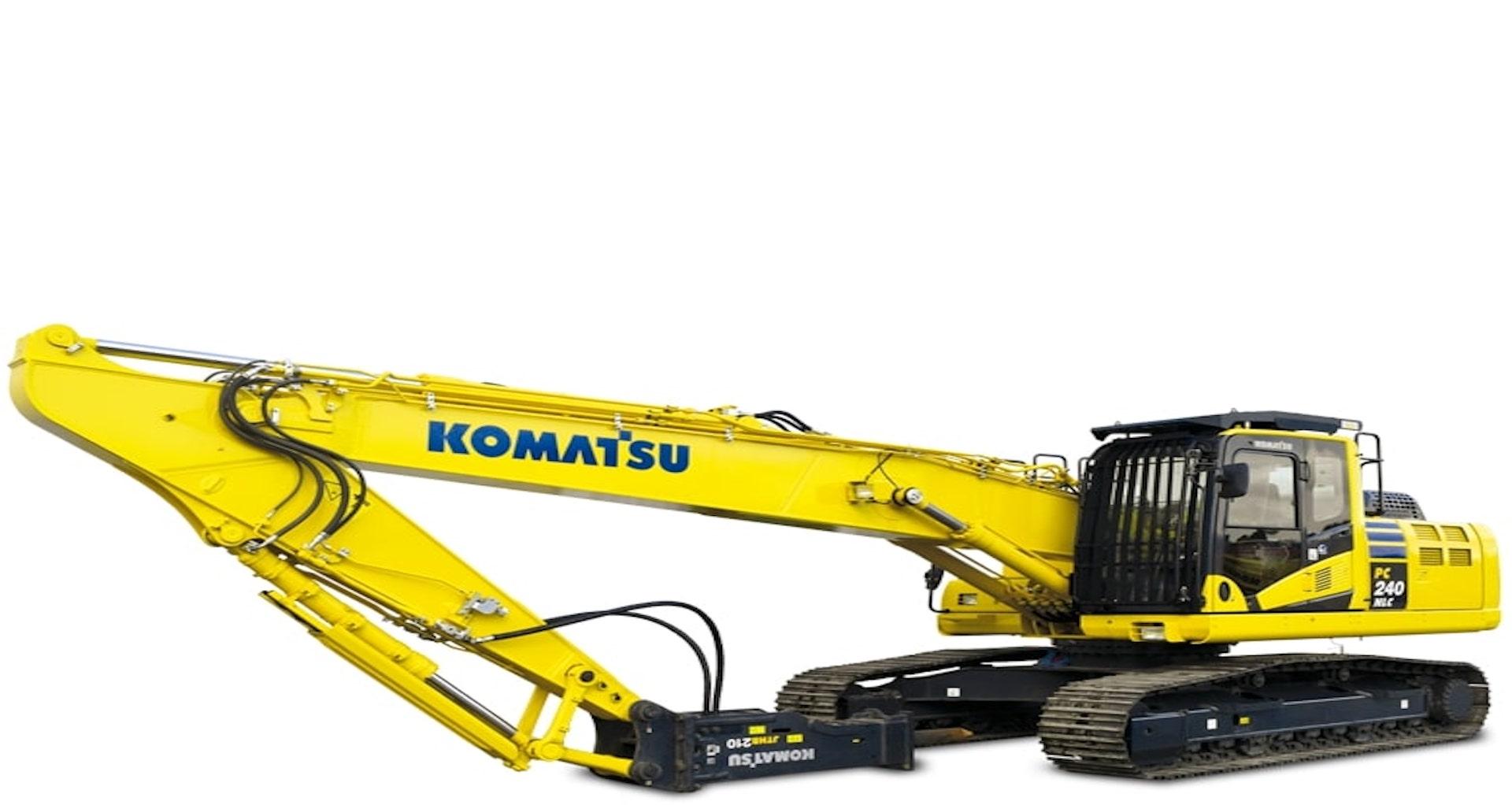Escavatori da demolizione Komatsu con braccio Monoblocco/rettilineo